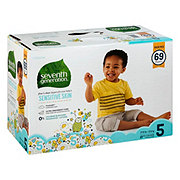 Seventh Generation Free & Clear Diapers with Animal Prints 69 ct