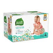 Seventh Generation Free & Clear Diapers with Animal Prints 81 ct