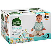 Seventh Generation Free & Clear Diapers with Animal Prints 93 ct