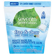 Seventh Generation Free & Clear HE Laundry Detergent Packs