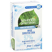 Seventh Generation Free & Clear Natural Fabric Softener Sheets