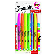 Sharpie Smear Guard Narrow Chisel Tip Assorted Highlighters