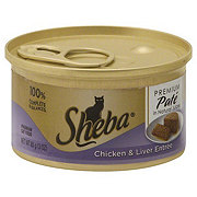 Sheba Premium Pate Cat Food Chicken and Liver Entree