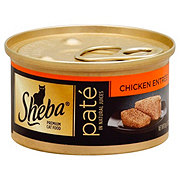 Sheba Premium Pate Cat Food Chicken Entree in Natural Juices