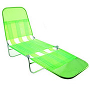Shin Crest Lime Green Folding Lounge Chair