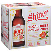 Shiner Ruby Redbird Lager  Beer 12 oz  Bottles