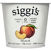 Siggi's 0% Non-Fat Strained Skyr Peach Yogurt
