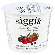 Siggi's Strained Non-Fat Icelandic Style Skyr Acai and Mixed Berries Yogurt