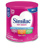 Similac Soy Isomil For Fussiness and Gas Infant Formula Powder