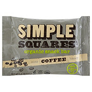 Simple Squares Organic Coffee Snack Bar