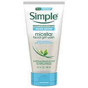 Simple Water Boost Sensitive Skin Micellar Facial Gel Wash