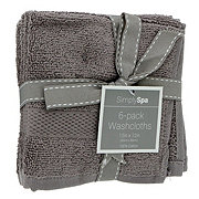 Simply Spa Gray 12x12 in Washcloths