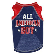 SimplyDog All American Boy Raglan Tank XS