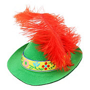 SimplyDog Alpine Feather Hat
