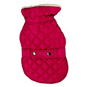 SimplyDog Berry Quilted Belted Jacket