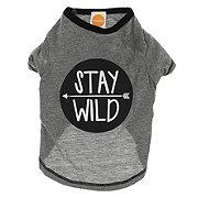 SimplyDog Heather Gray Stay Wild Raglan T-Shirt XS