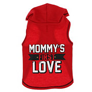 SimplyDog Mommy's First Love Red Hoodie S