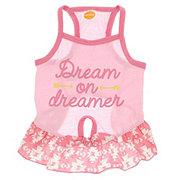 SimplyDog Pink Dream On Dreamer Dress S