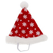 SimplyDog Red Snowflake Santa Hat