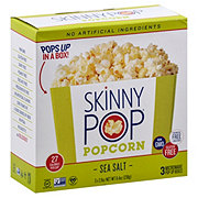 SkinnyPop Sea Salt Microwave Popcorn Pop-Up Boxes