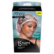 Sleek Clear Plastic Shower Caps