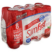 SlimFast Meal Replacement Shakes, Strawberries & Cream