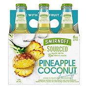 Smirnoff Sourced Pineapple Coconut 11.2 oz Bottles