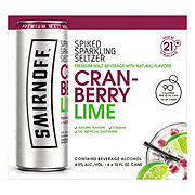 Smirnoff Spiked Sparkling Seltzer Cranberry Lime 6 Pack