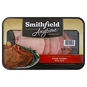 Smithfield Anytime Favorites Naturally Hickory Smoked Pork Chops With Water Added