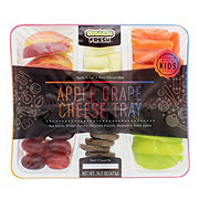 Snack Fresh Apple Grape Cheese Tray