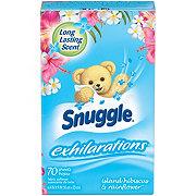 Snuggle Exhilarations Fabric Sheets, Island Hibiscus Rainflower