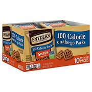 Snyder's of Hanover Snaps Pretzels 100 Calorie Pretzel Packs