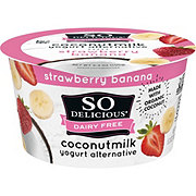 So Delicious Coconut Milk Vegan Strawberry Banana Yogurt Alternative