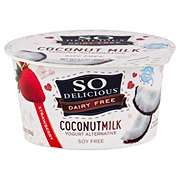 So Delicious Coconut Milk Vegan Strawberry Yogurt Alternative