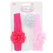 So 'Dorable 3 Piece Headwrap Flower Assortment Pink/White