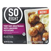 So Right Teriyaki Meatballs with Mashed Potatoes
