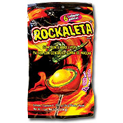 Sonric's Rockaleta Mango Flavored Gum Center Lollipop Bag