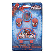 Spider-Man Happy Birthday Candle Set