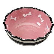 Spot Pink Ruffle 7 in Dog Dish