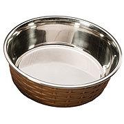 Spot Soho Basket Weave Dish Copper 55oz