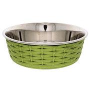 Spot Soho Basket Weave Dish Green 55oz