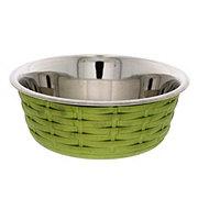 Spot Soho Green Basket Weave 30 oz Dish