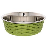 Spot Soho Green Basket Weave 55 oz Dish