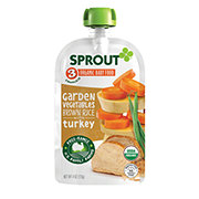 Sprout Garden Vegetables Brown Rice with Turkey Organic Baby Food