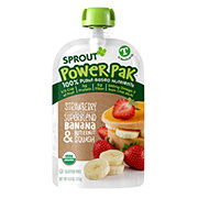 Sprout Power Pak Strawberry with Superblend Banana Butternut Squash Organic Toddler Purees