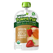 Sprout Power Pak Superblend with Apple Apricot Strawberry Organic Toddler Puree