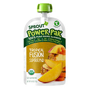 Sprout Power Pak Tropical Fusion with Superblend Organic Toddler Puree