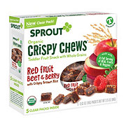 Sprout Red Berry Beet Crispy Chews Toddler Snack 5 ct