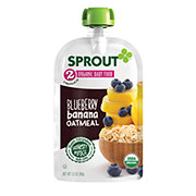 Sprout Stage 2 Blueberry Banana Oatmeal Organic Baby Food
