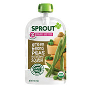 Sprout Stage 2 Green Beans Peas & Butternut Squash Organic Baby Food
